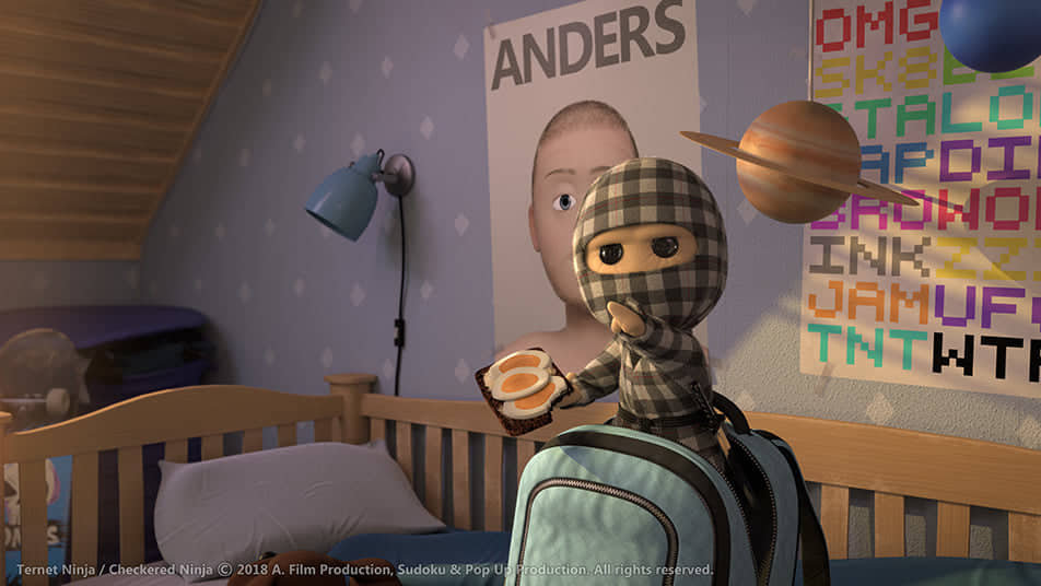"Animated film ""Checkered Ninja"""