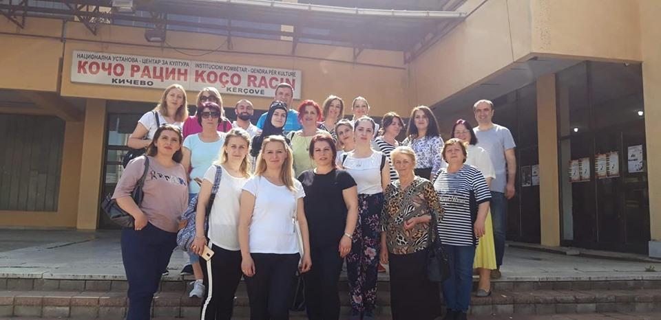 Vizitë nga stafi i bibliotekës së Tetovës